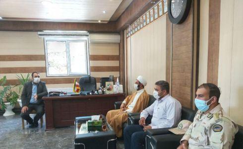 دیدار صمیمی شهردار سلماس با ریاست محترم عقیدتی سیاسی و حفاظت اطلاعات هنگ مرزی شهرستان سلماس درمحل شهرداری