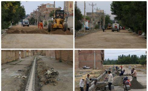 تلاش خستگی ناپذیر مجموعه شهرداری سلماس در اجرای پروژههای عمران و آبادانی در نقاط مختلف شهری